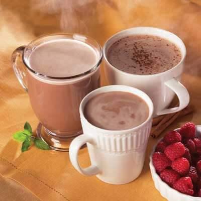 variety hot chocolate protein supplement